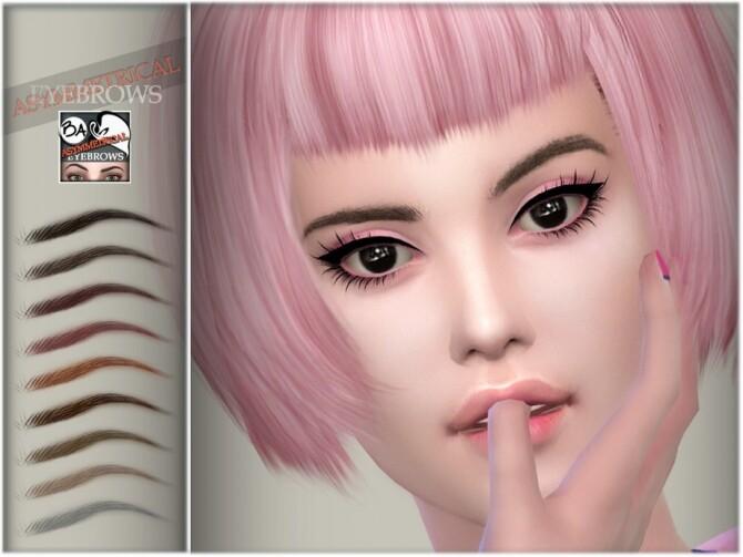 Asymmetrical Eyebrows by BAkalia at TSR image 973 670x503 Sims 4 Updates