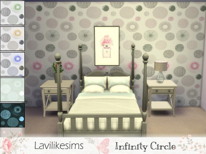 Inifinty Circles Wallpaper by lavilikesims at TSR image 978 670x503 Sims 4 Updates