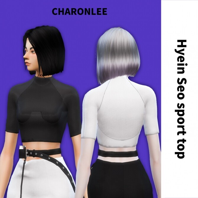 Sims 4 Hyein Seo sport top at Charonlee