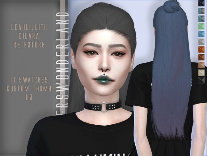 Sims 4 Leahlillith Dilara Hair Retexture by PlayersWonderland at TSR