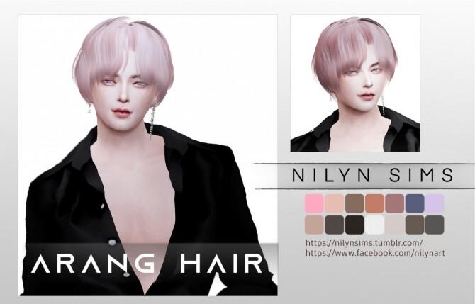 Sims 4 ARANG HAIR at Nilyn Sims 4