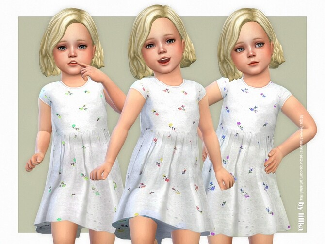 Sims 4 Diana Dress by lillka at TSR