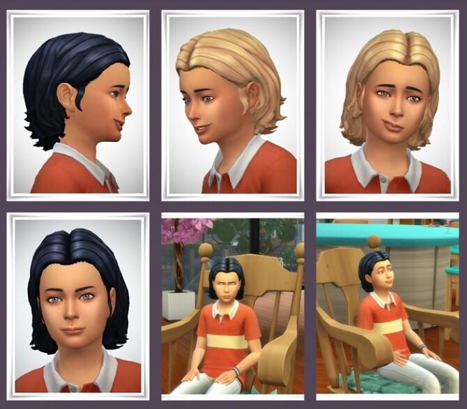 Sims 4 Paul Kids Hair at Birksches Sims Blog