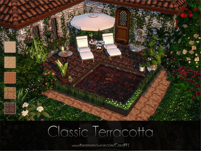Classic Terracotta floor by Caroll91 at TSR image 997 670x503 Sims 4 Updates
