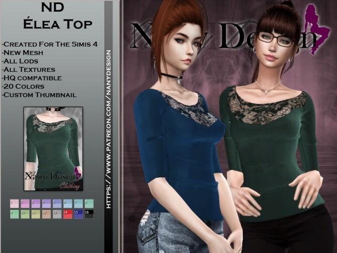 Sims 4 Elea top by Nany Design at TSR