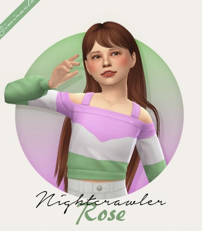 Sims 4 Nightcrawler Rose Hair Kids Version at Simiracle