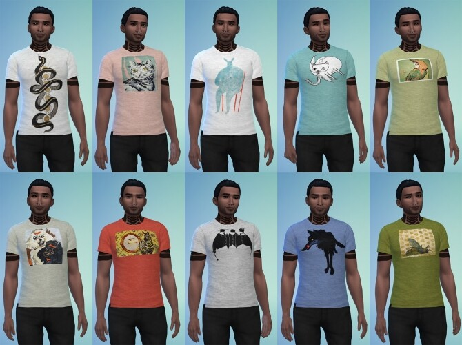 Sims 4 Doubleplusgood tees for two at b5Studio
