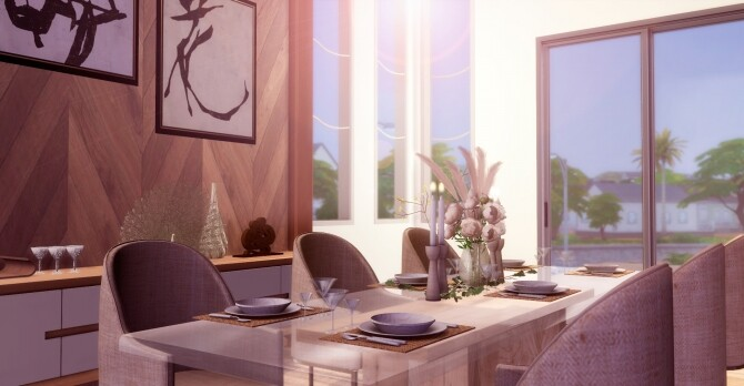 Sims 4 Natalie Dining Room at Lily Sims