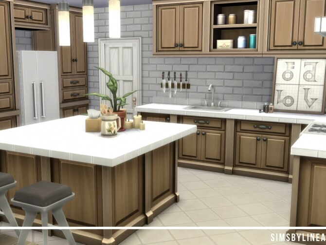 Sims 4 Mansion by SIMSBYLINEA at TSR