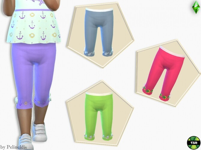 Toddler Skinny Cropped Pants by Pelineldis at TSR image 10310 670x503 Sims 4 Updates