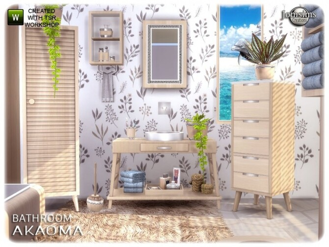 Akaoma bathroom part 2 clutter by  jomsims at TSR image 10312 670x503 Sims 4 Updates