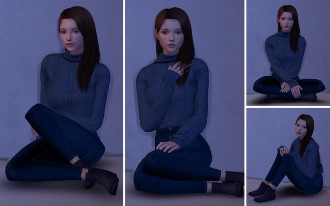 Sims 4 Model Sitting Poses at Lutessa