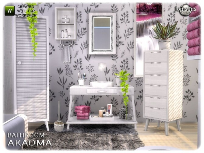 Akaoma bathroom part 2 clutter by  jomsims at TSR image 10419 670x503 Sims 4 Updates
