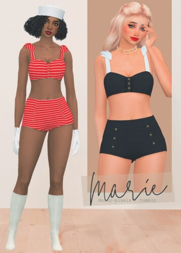 Marie Bikini gloves hat