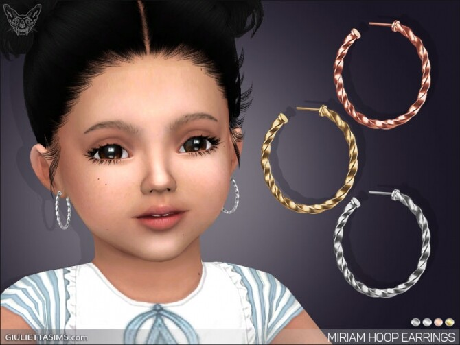 Miriam Hoop Earrings For Toddlers at Giulietta image 10512 670x503 Sims 4 Updates