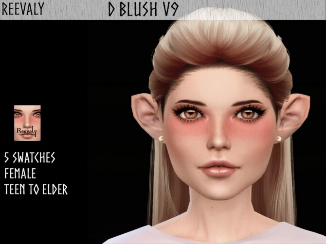 Sims 4 D Blush V9 by Reevaly at TSR