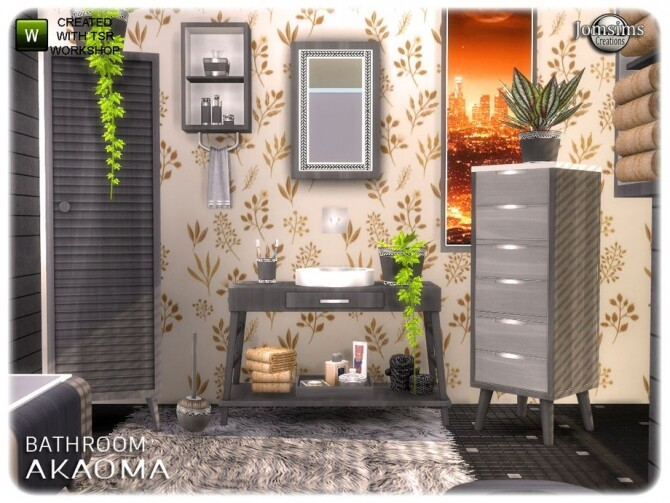 Akaoma bathroom part 2 clutter by  jomsims at TSR image 10517 670x503 Sims 4 Updates