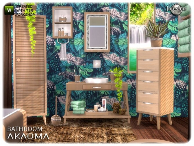 Akaoma bathroom part 2 clutter by  jomsims at TSR image 10618 670x503 Sims 4 Updates