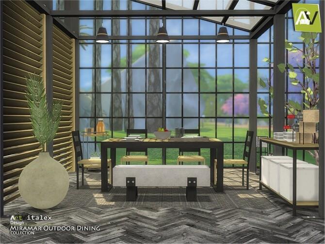 Miramar Outdoor Dining by ArtVitalex at TSR image 10716 670x503 Sims 4 Updates