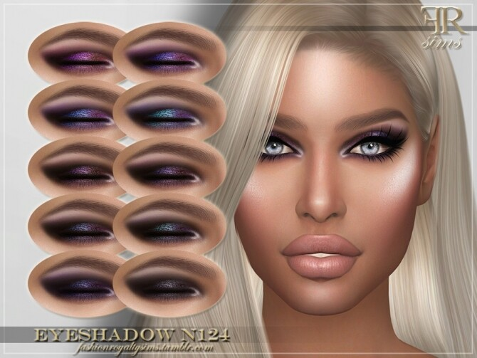 FRS Eyeshadow N124 by FashionRoyaltySims at TSR image 1074 670x503 Sims 4 Updates