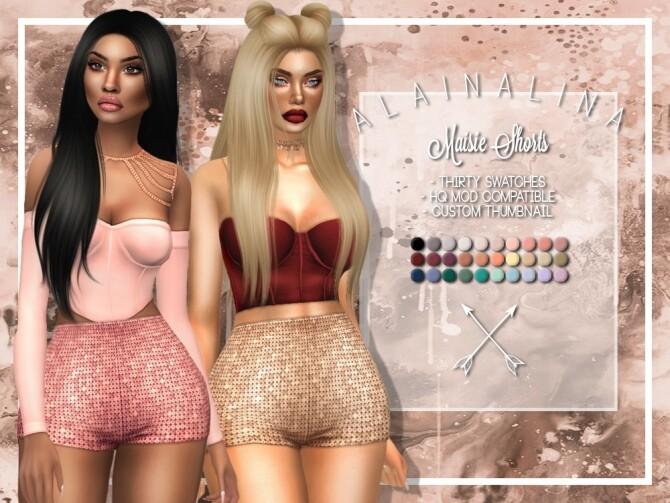 Sims 4 Maisie Shorts at AlainaLina