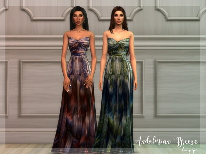 Sims 4 Andalusian Breeze DR5 dress by laupipi at TSR