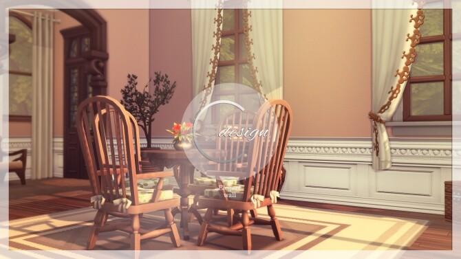 Sims 4 Elegant Wall at Cross Design