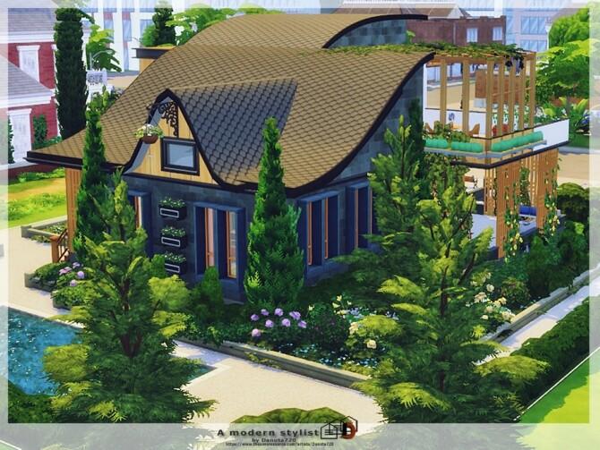 Sims 4 A modern stylist Home by Danuta720 at TSR