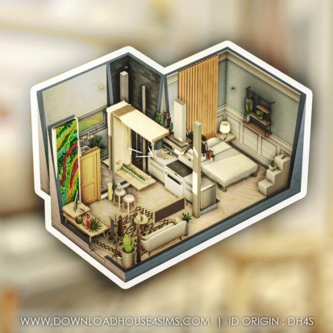 Sims 4 Couple & Cat apartment at DH4S