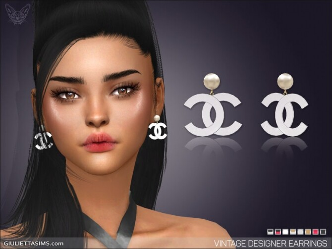 Sims 4 Vintage Pearl Designer Earrings at Giulietta