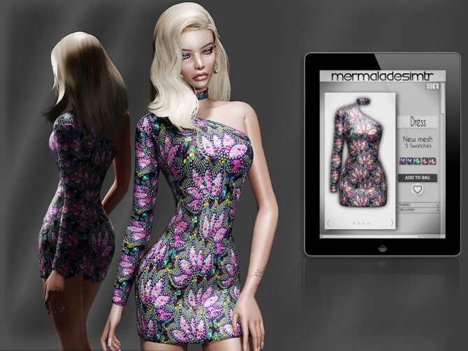Sims 4 Dress MC68 by mermaladesimtr at TSR