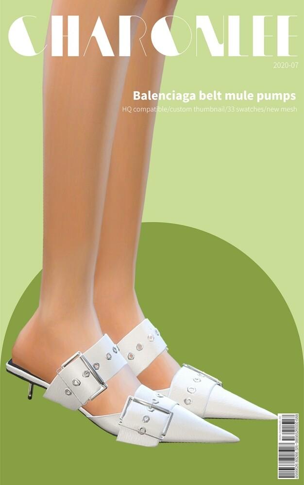 Sims 4 Belt mule pumps at Charonlee