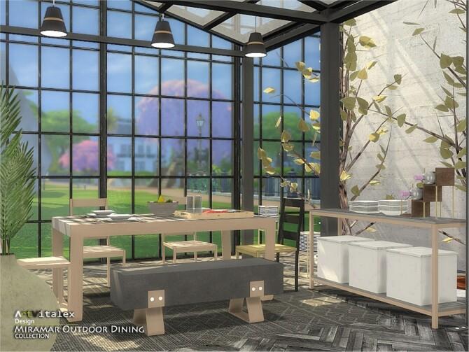 Miramar Outdoor Dining by ArtVitalex at TSR image 11120 670x503 Sims 4 Updates