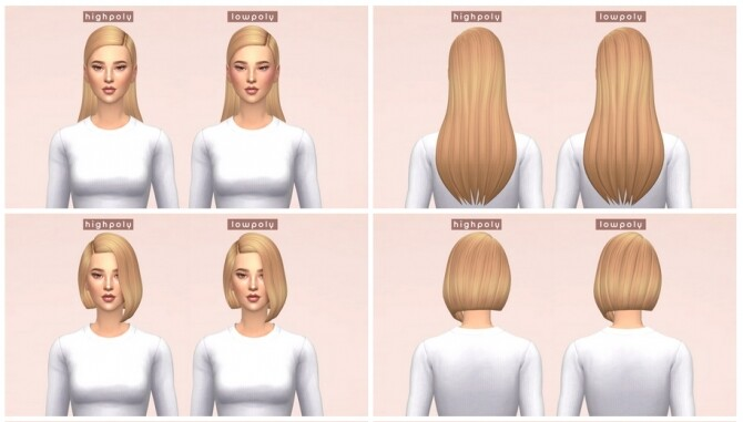Sims 4 LowPoly Hairs at Enriques4