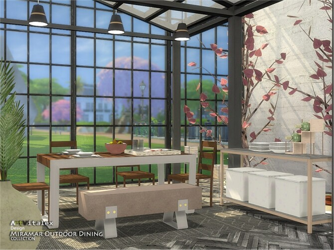 Miramar Outdoor Dining by ArtVitalex at TSR image 11220 670x503 Sims 4 Updates