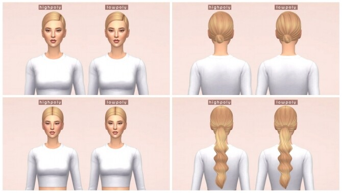 LowPoly Hairs at Enriques4 image 1123 670x380 Sims 4 Updates