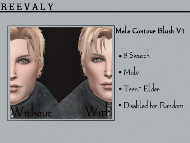 Male Contour Blush V1 by Reevaly