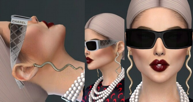 Sims 4 FANCY SNAKE EARRINGS at Ruchell Sims
