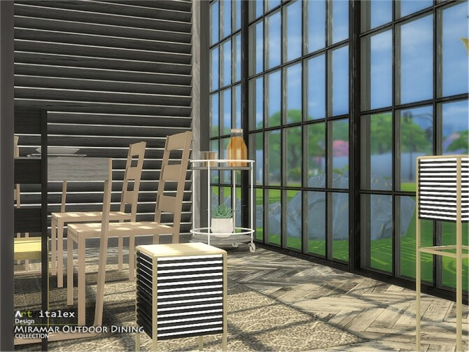 Sims 4 Miramar Outdoor Dining by ArtVitalex at TSR