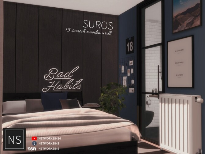 Suros Wooden Walls by Networksims at TSR image 1150 670x503 Sims 4 Updates