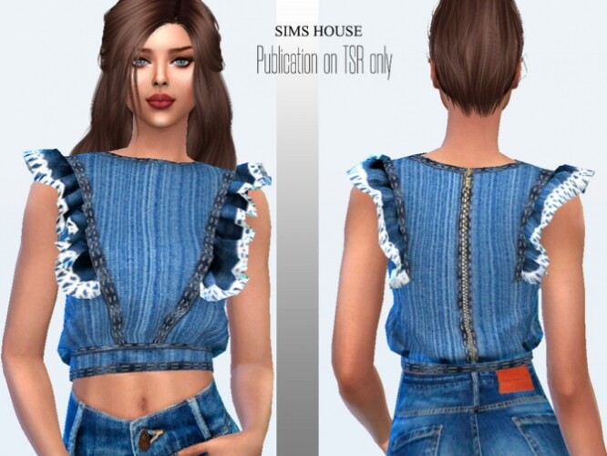 Denim blouse by Sims House