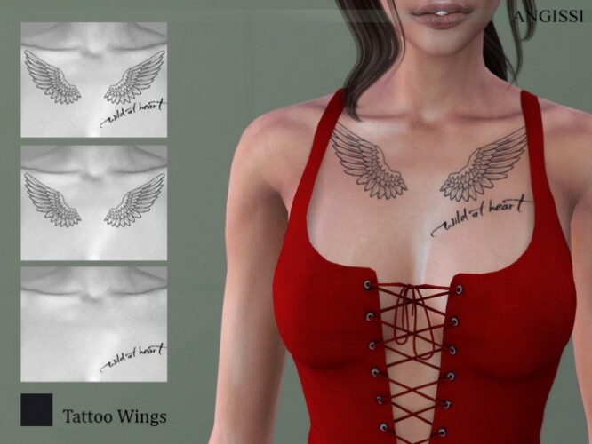 Tattoo Wings by ANGISSI
