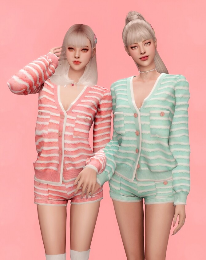 ICECREAM JENNIEs OUTFIT at RIMINGs image 11716 670x845 Sims 4 Updates