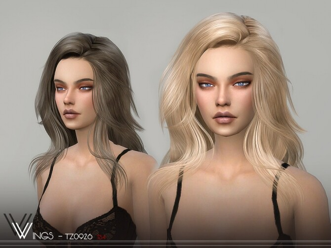 Sims 4 WINGS TZ0926 Hair by wingssims at TSR