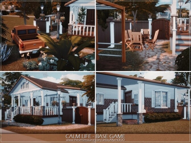 Sims 4 Calm Life house by MychQQQ at TSR