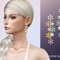 Shape enamel earrings by Jius