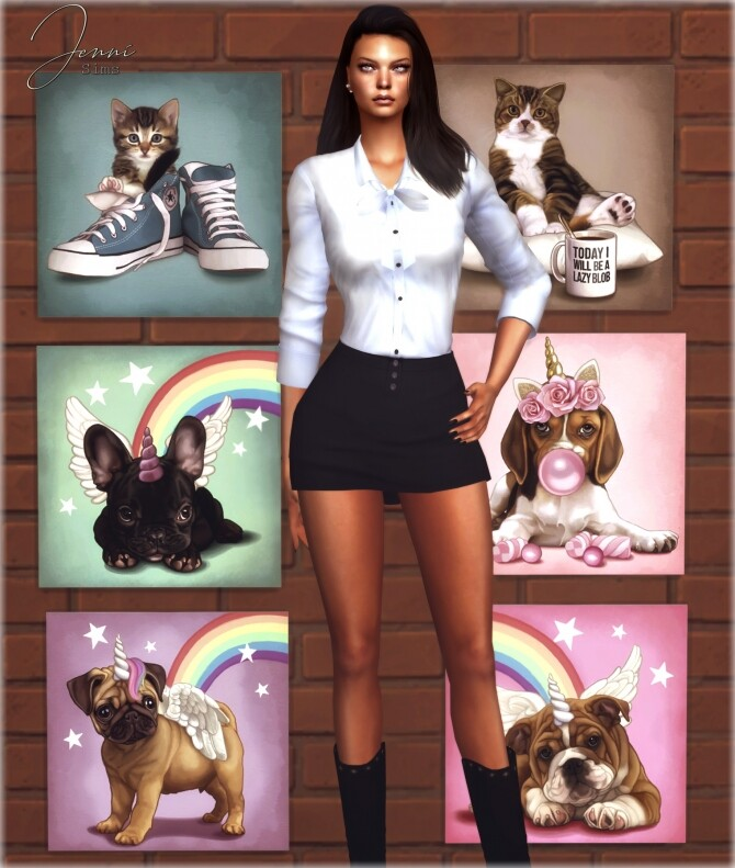 Sims 4 COLLECTION PAINTING Unicorns Land at Jenni Sims