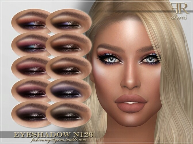 Sims 4 FRS Eyeshadow N126 by FashionRoyaltySims at TSR