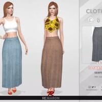Denim Skirt 03 by remaron