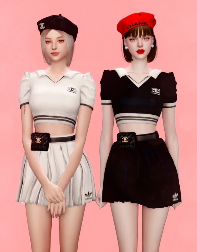 ICECREAM JENNIEs OUTFIT at RIMINGs image 11915 670x857 Sims 4 Updates